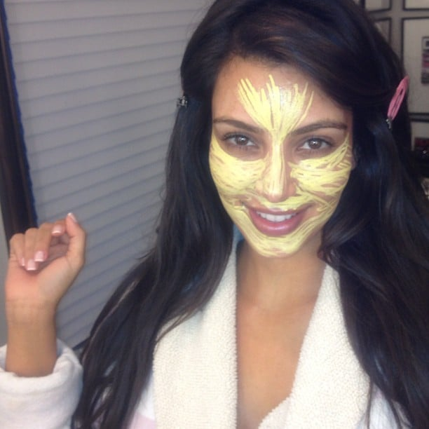Kim Kardashian brightened up her complexion with the help of some makeup. Source: Instagram user kimkardashian