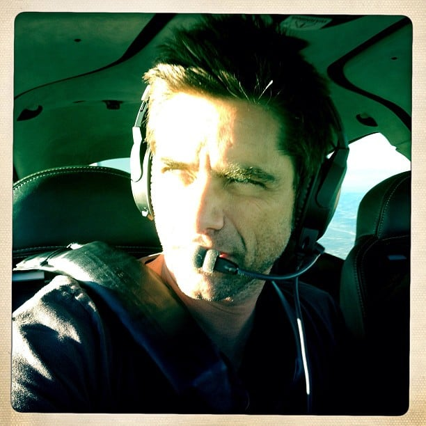 John Stamos was flying high over Arizona. Source: Twitter user JohnStamos