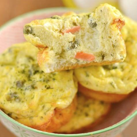 Lox Caper Egg Muffins