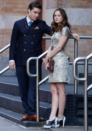 Photo of Blair Waldorf on Gossip Girl Season Three Premiere in Brocade Dress 2009-09-15 17:00:08