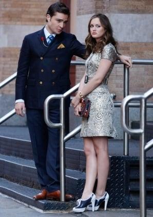 Photo of Blair Waldorf on Gossip Girl Season Three Premiere in Brocade Dress