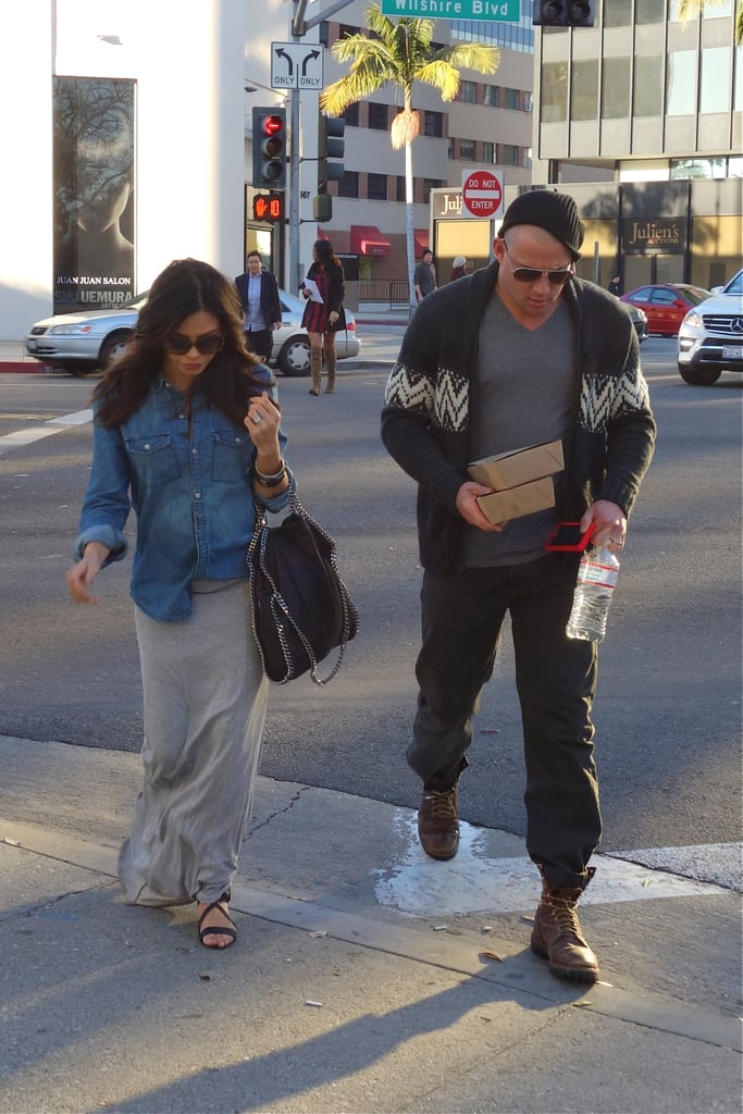 Expectant parents Jenna Dewan and Channing Tatum (with a newly shaved head!) were looking cute as they strolled the streets of LA on January 17.