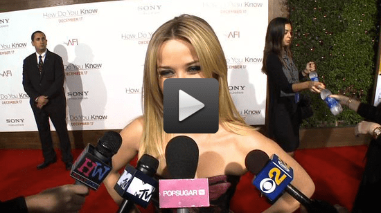 Video of Reese Witherspoon Talking About Robert Pattinson at the How Do You Know Premiere in LA