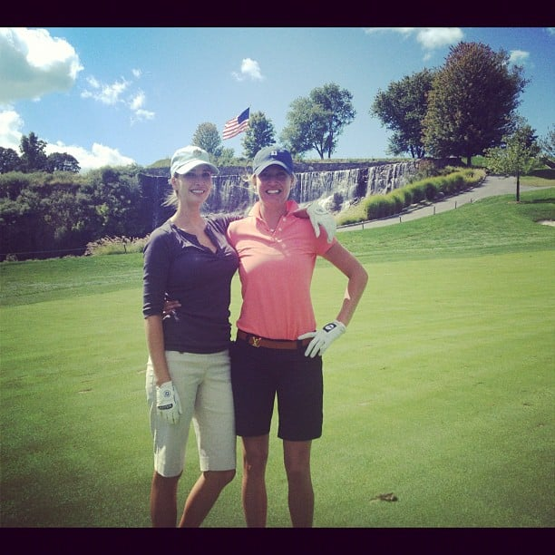 Ivanka Trump hit the links with a pal.  Source: Instagram user ivankatrump