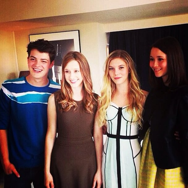 Israel Broussard got together with Katie Chang, Claire Julien, and Taissa Farmiga during their press tour.  Source: Instagram user israelbroussard