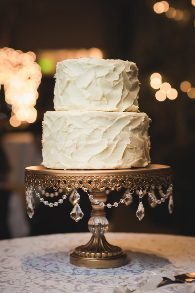 Classy and clean: that's how we'd describe this wedding cake that's also elegant without being extravagant.