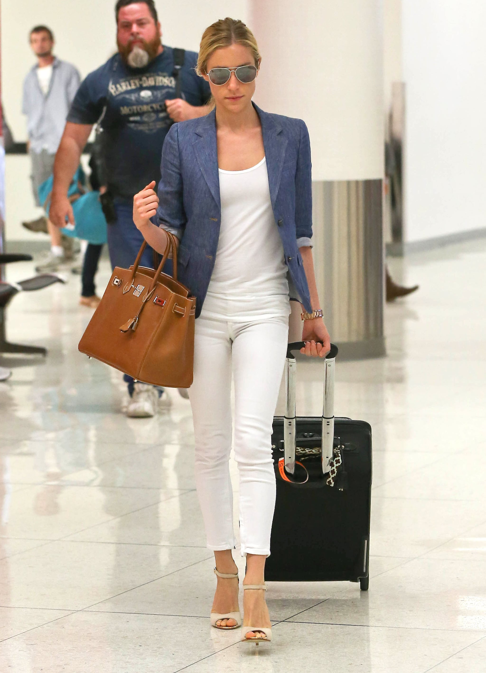 Kristin Cavallari's denim blazer is a quick way to add polish to your Summer style, and it's a bit more dressed up than a regular denim jacket.