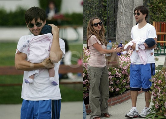 Tobey Is a Very Hands-On Dad