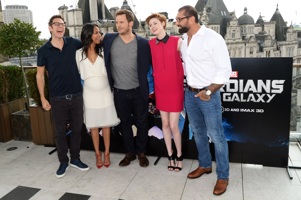 The Guardians of the Galaxy cast laughed together at a photocall in London on Friday.