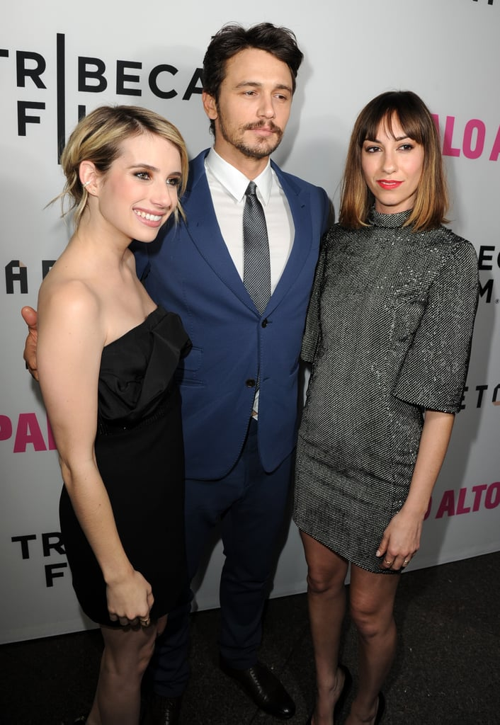 On Monday, Emma Roberts, James Franco, and director Gia Coppola debuted Palo Alto in LA.