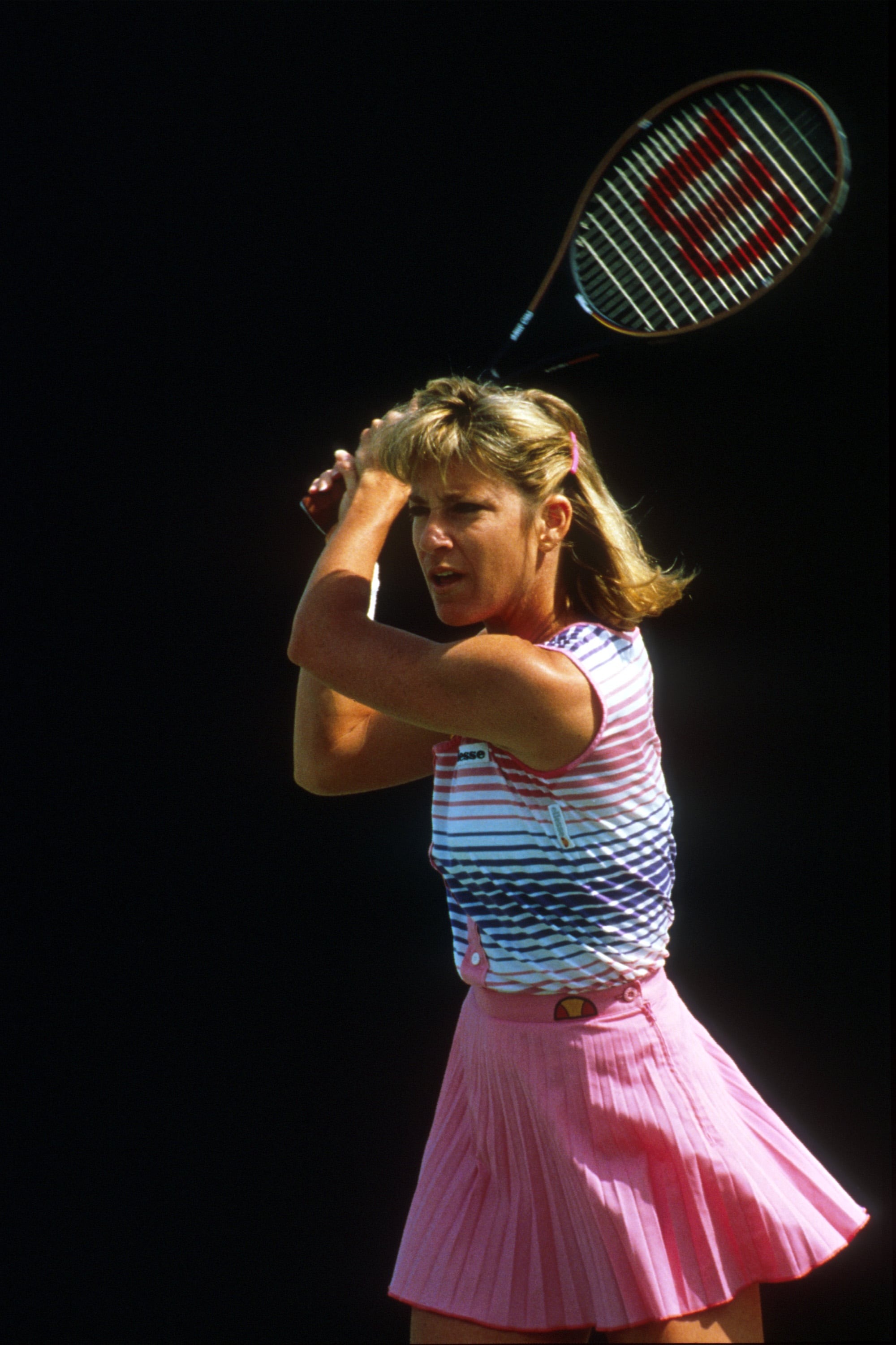 "Christine ""Chris"" Evert,  the former World No. 1 professional tennis player, displayed her colorful tennis style at the Lipton competition in 1988."