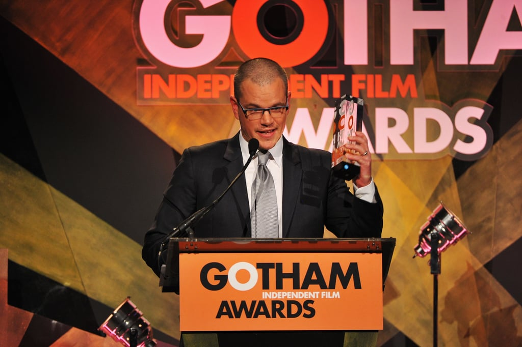 Matt Damon was honored at the Gotham Independent Film Awards in NYC.