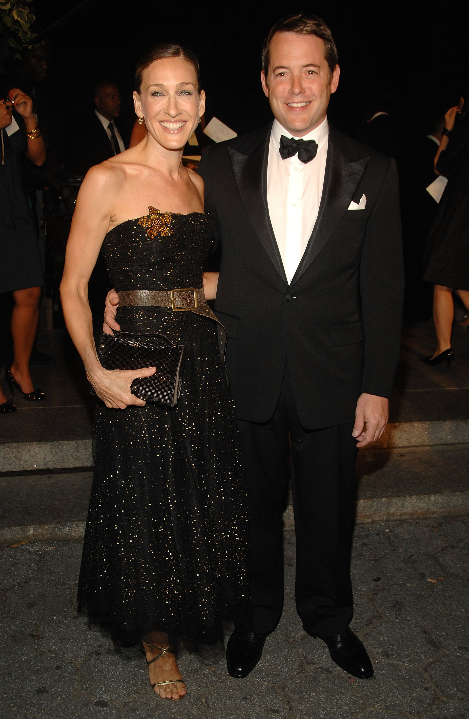Sarah Jessica Parker and Matthew Broderick dressed up to attend Ralph Lauren's Spring show at the Central Park Conservatory Garden in February 2008.