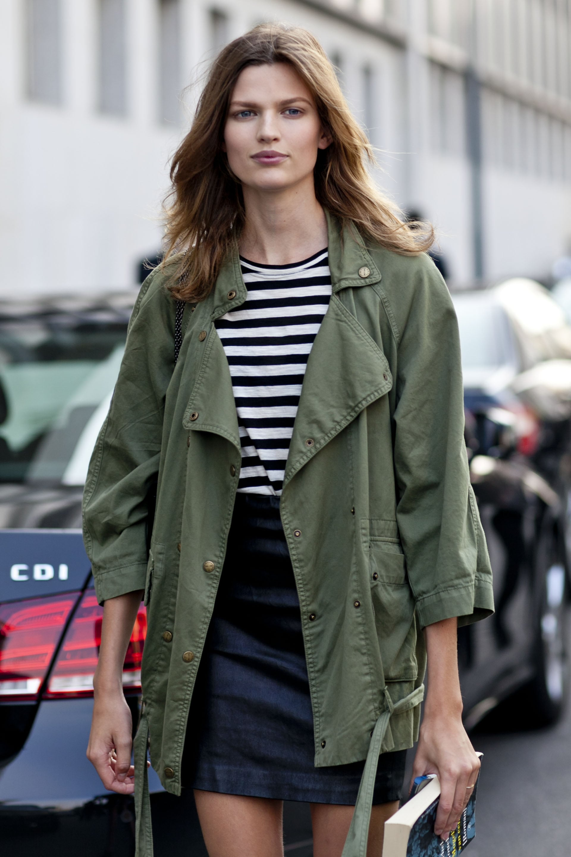 When in doubt, throw on an army-green parka.