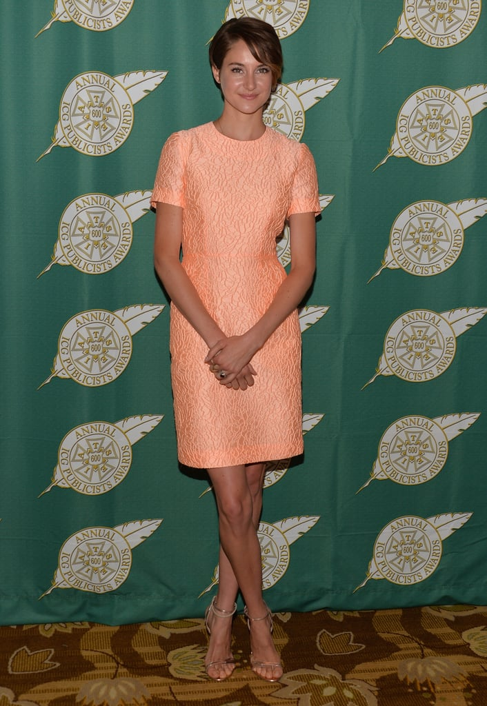 Shailene Woodley in Jonathan Saunders at a 2014 Luncheon