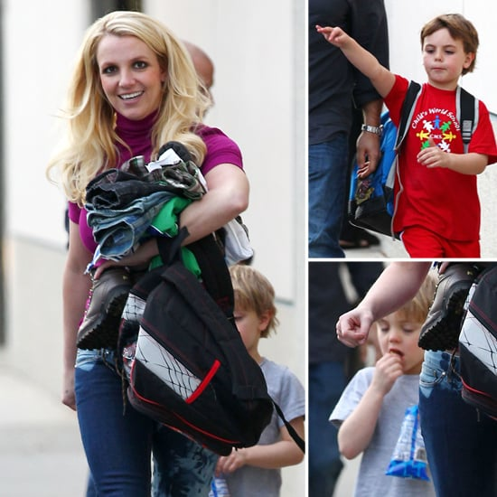 Britney Spears Does the School Run With Her Bare-Footed Sons