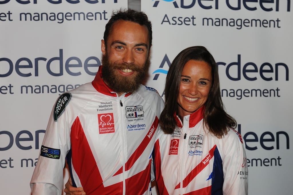 Pippa Middleton and her brother, James, were all smiles after finishing Race Across America in Maryland on Friday.