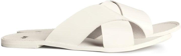 H&M Leather Slide Sandals