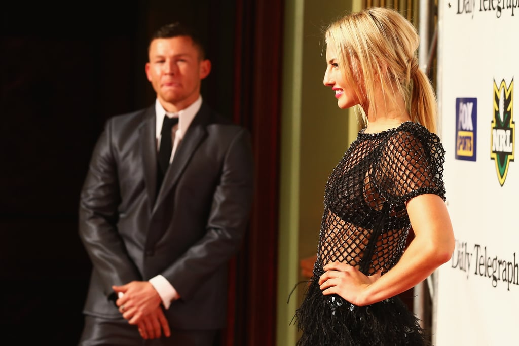 Todd Carney let girlfriend Lauryn Eagle share the spotlight at the 2012 Dally M Awards.