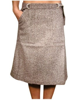 Try on a Tweed Skirt