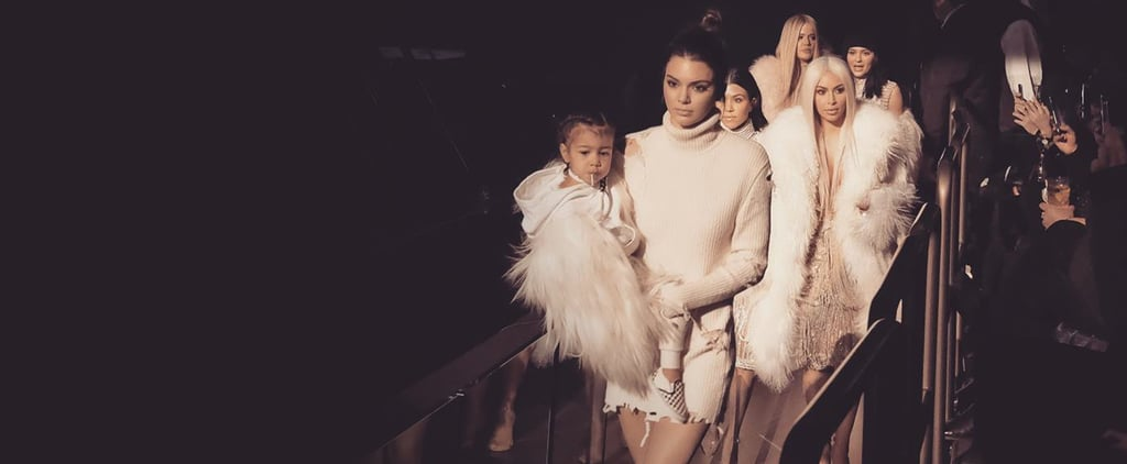 Even North West Was Killing It With the Rest of the Fam at Kanye's Show