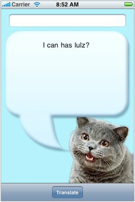 iPhone App You Need: lolSpeak