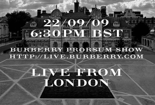 Burberry Prorsum Streams 2010 Spring Runway Show Live From London Fashion Week