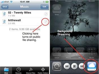 Apple Streaming Music From MobileMe