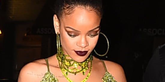 Only Rihanna Can Look This Perfect In Head-To-Toe Lime Green Fringe