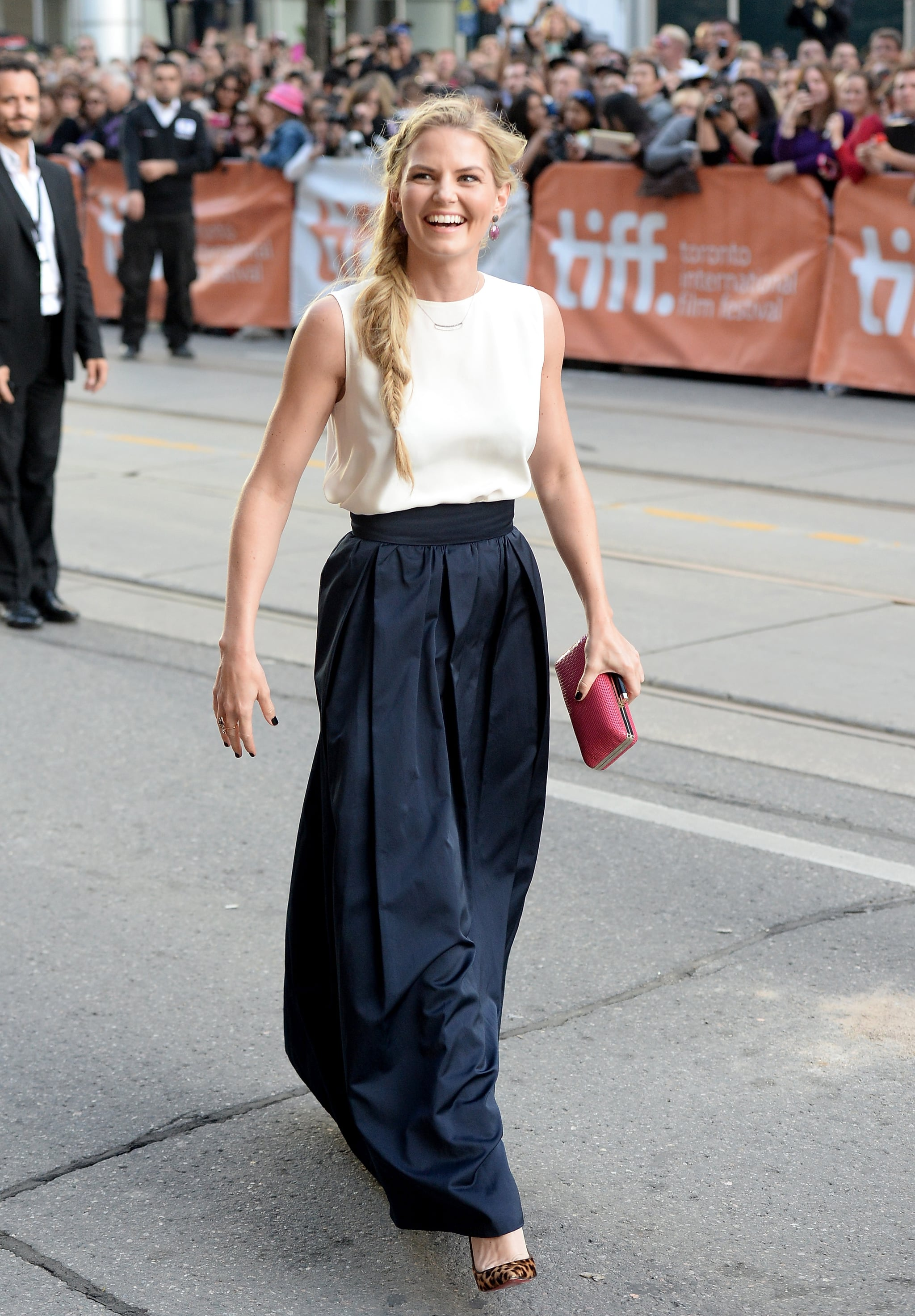 Jennifer Morrison was in good spirits as she arrived at the premiere of Gravity.