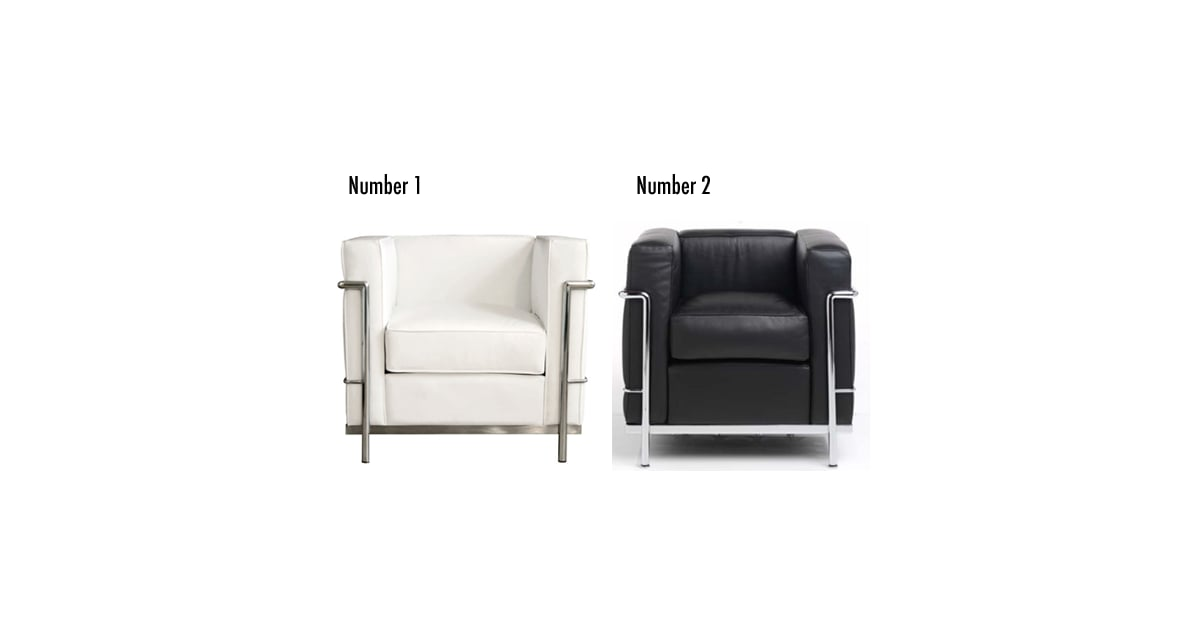 Less or more modern leather chairs popsugar home for Modern furniture for less