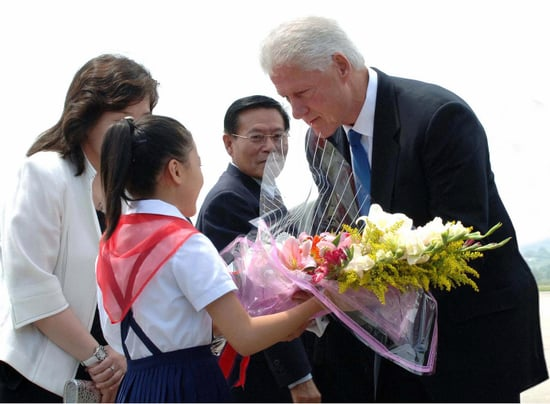 Front Page: Bill Clinton in North Korea For Reporters' Release