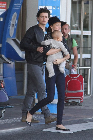 The couple were sighted at the airport in Paris with their infant son Flynn in Sept. 2011.