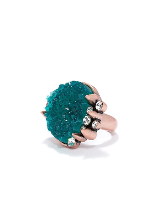 Drusy and Crystal Ring ($42)