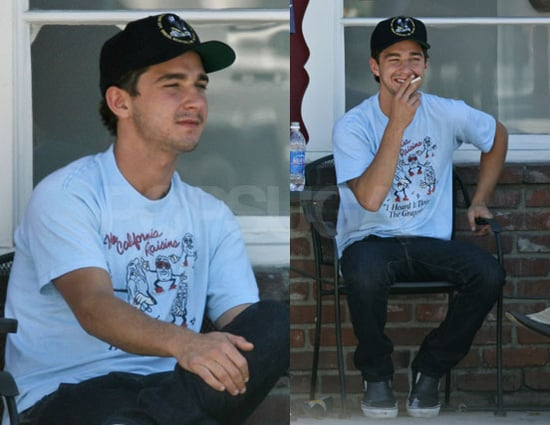 Shia Is Smoking, But Not In A Good Way
