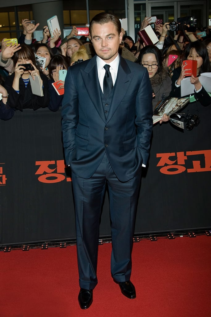 Leonardo DiCaprio attended the premiere of Django Unchained in Seoul.