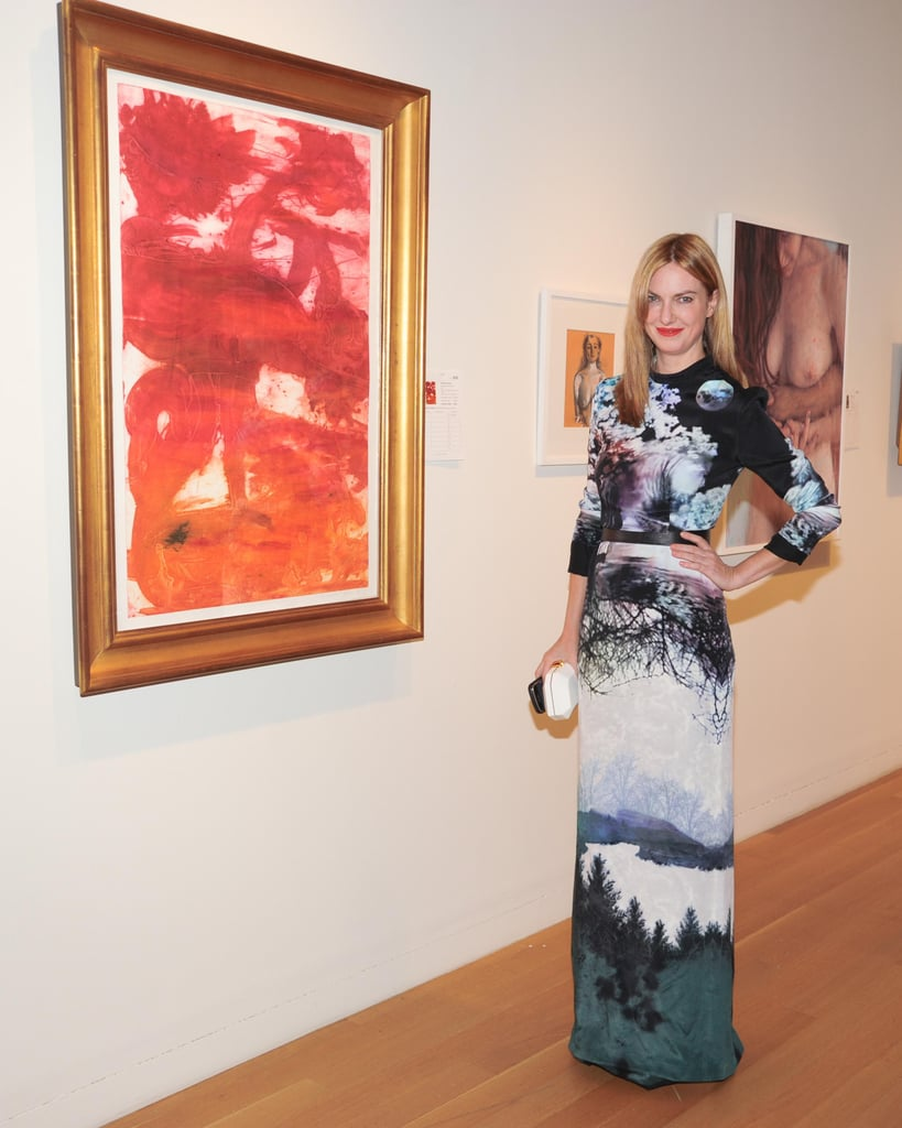 Polina Proshkina was as artistic as the paintings on the wall at Sotheby's Take Home a Nude auction.