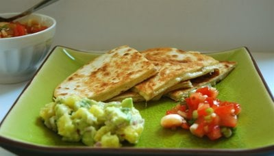 Yummy Link: Cheese Quesadilla with Two Salsas