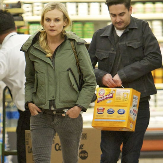 Diane Kruger Wearing Army Green Jacket