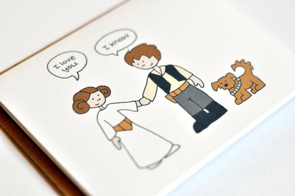 Han and Leia I Love You Card