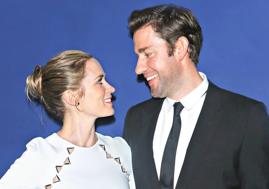 "John Krasinski Jokes That He Was Emily Blunt's ""Stalker"" Before They Married"