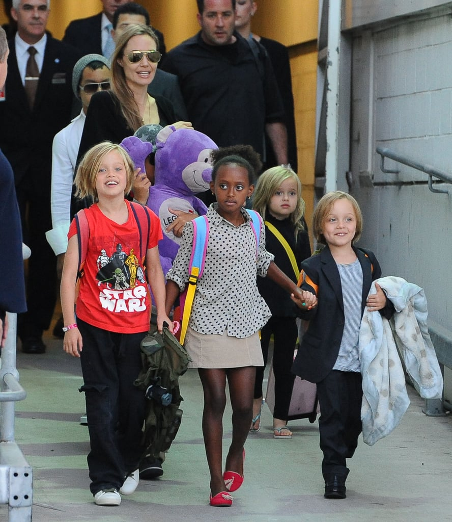 Angelina Jolie traveled with all six of her kids to Australia to being work on her latest directorial effort, Unbroken.