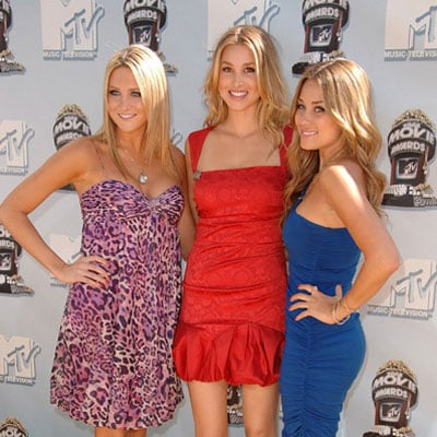 Stephanie Pratt, Whitney Port and Lauren Conrad at the 2008 MTV Movie Awards