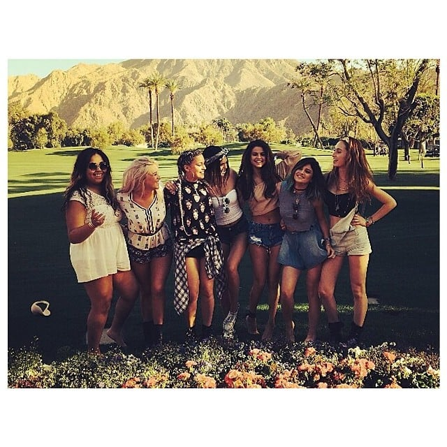 Selena Gomez met up with Kendall Jenner, Kylie Jenner, and a group of other pals. Source: Instagram user kendalljenner