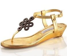 Diane Von Furstenberg Love Knot Sandals and Fendi's Runway Metallic Cage heel