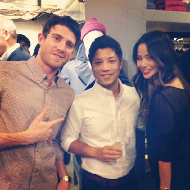 Bryan Greenberg and Jamie Chung hung out during FNO at Everlane.  Source: Instagram user everlane