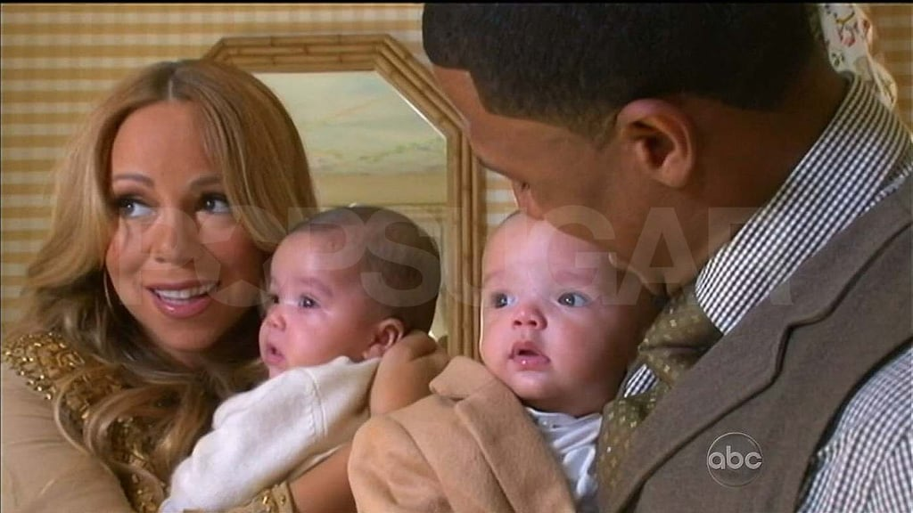 Mariah Carey and Nick Cannon with Moroccan and Monroe.