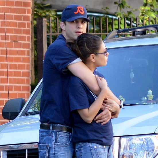Ashton Kutcher and Mila Kunis Hugging in NYC | Pictures