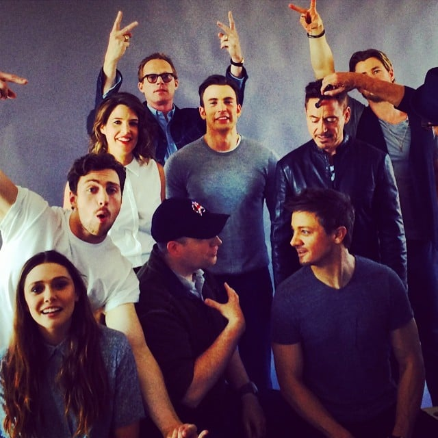 """Mark Ruffalo shared a behind-the-scenes shot of """"the Avengers (almost) assembled."""" Source: Instagram user markruffalo"""