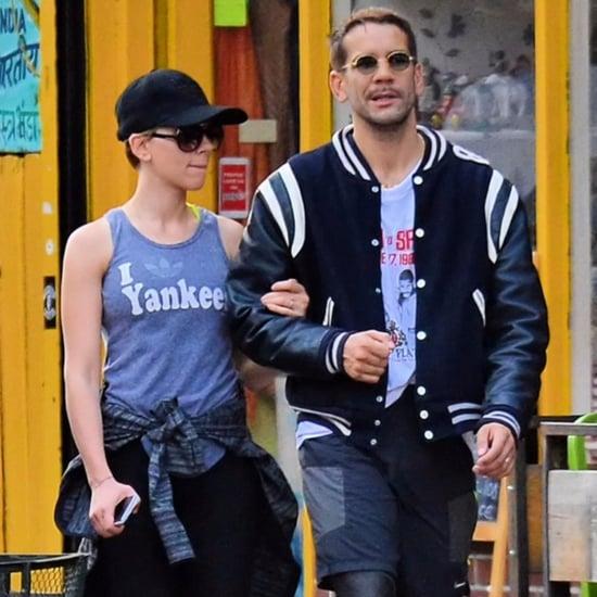 Scarlett Johansson and Romain Dauriac in NYC September 2015